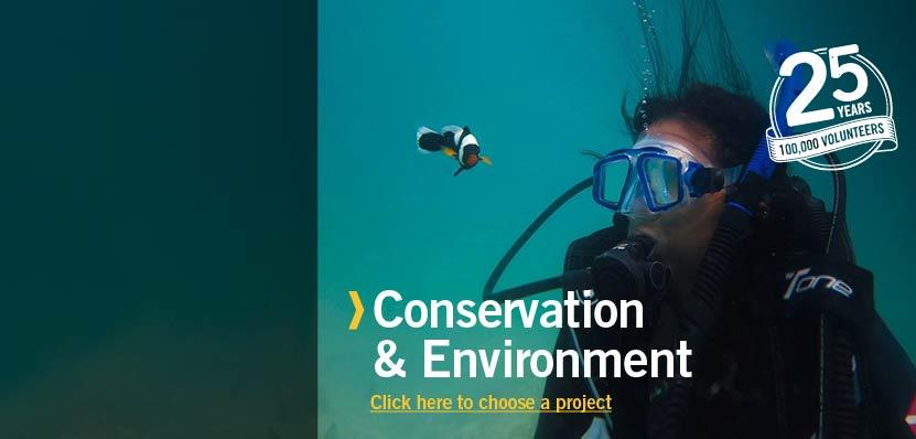 Volunteering on a Conservation & Environment Project