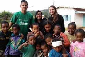 Care & Conservation volunteers work through educational activities with children in Madagascar over the Christmas vacation.