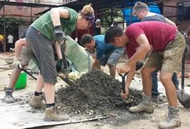 Christmas Building volunteers assist with renovation efforts in Nepal