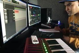 A Music Production volunteer learns about the electronic equipment involved in producing music at his internship in South Africa.