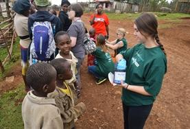 A Pharmacy volunteer on an outreach in Kenya
