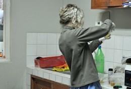 A Dietician volunteer works at her placement in Peru