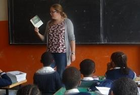 A teacher reads to a classroom on a Teaching Project placement in Ethiopia