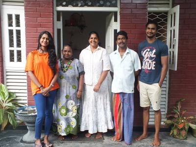A Projects Abroad host family at their home in Sri Lanka
